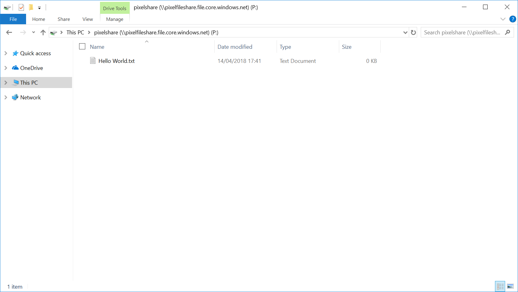 Updated: Step by Step guide to setting up Azure file share