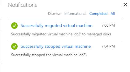 Azure Managed Disk Migration using the Azure Portal - Pixel