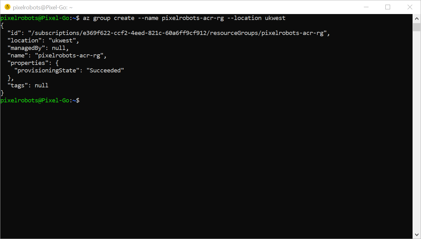 Create an Azure Container Registry and allow AKS access - Pixel Robots