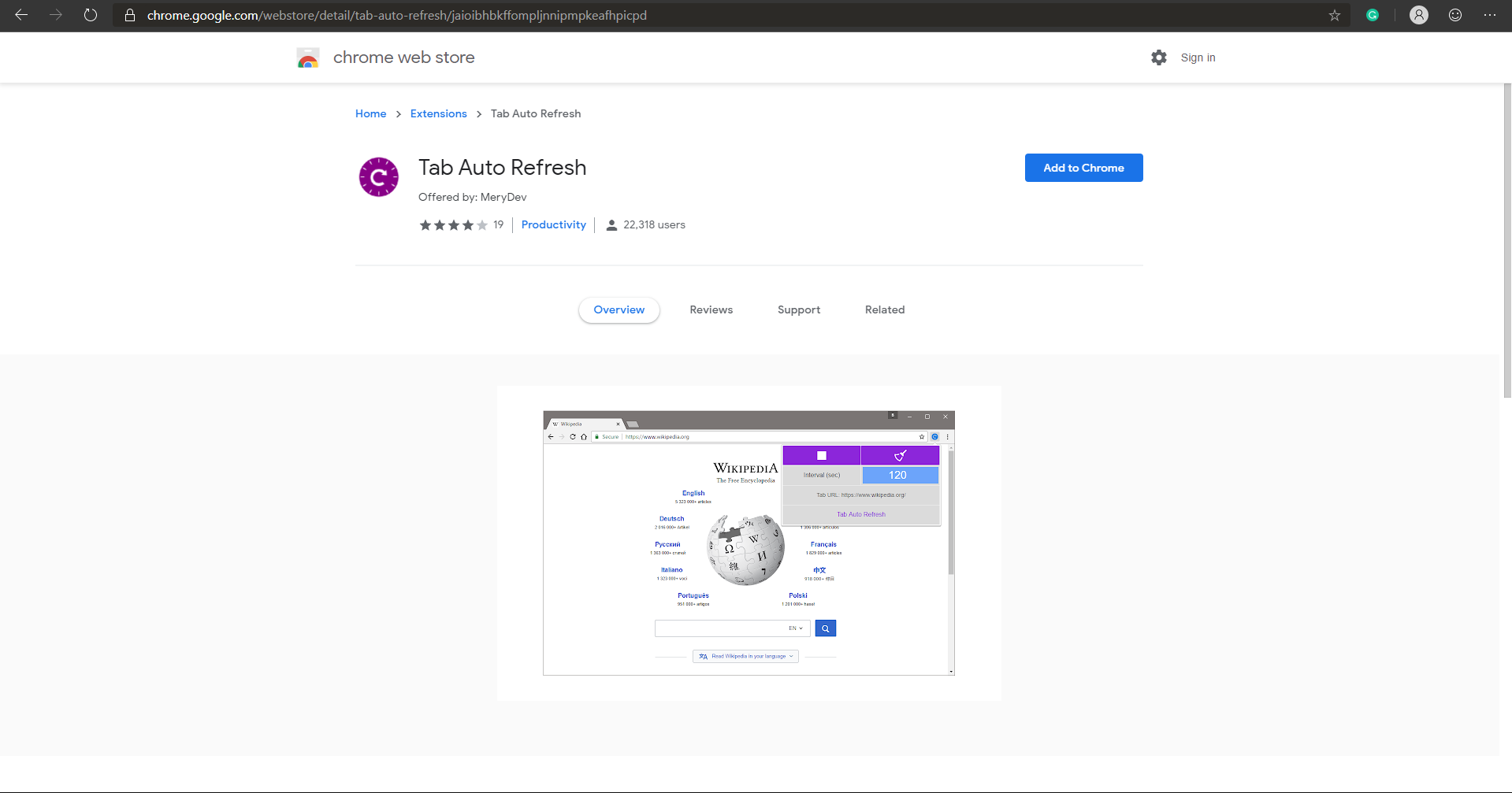 Auto refreshing Azure dashboard's in Chrome or the new the Edge